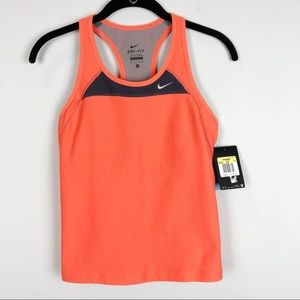 Nike athletic running tank with built in bra NWT
